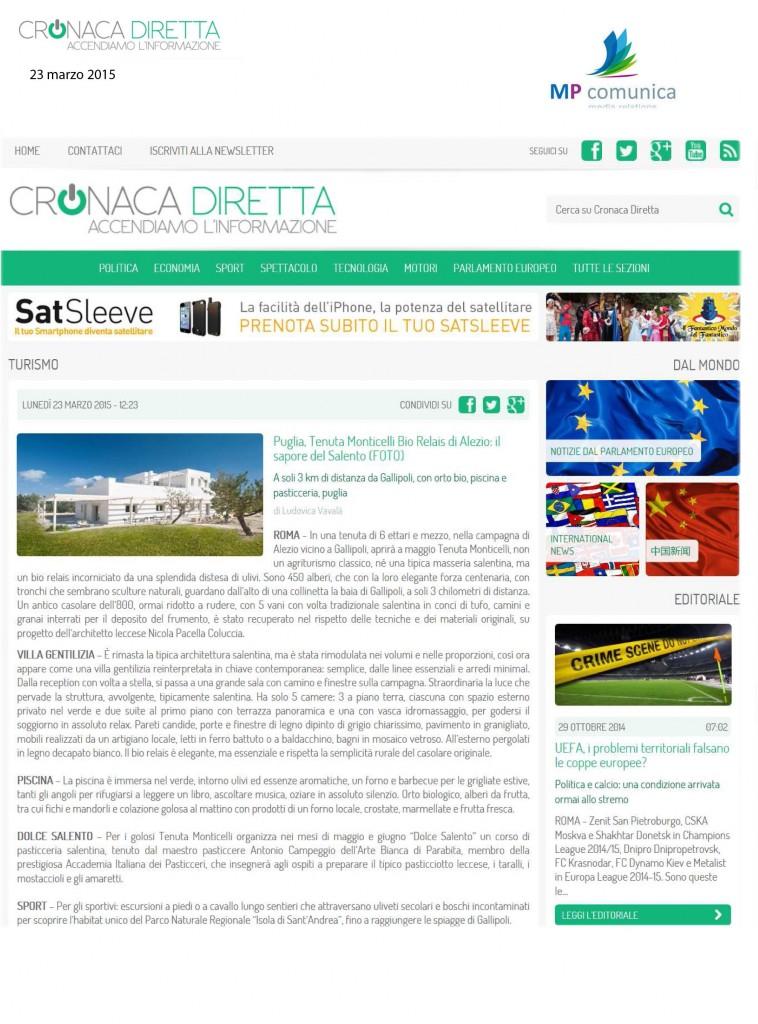 cronacadiretta.it - 23 marzo 2015